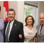 Uruguayan Ambassador Elbio Oscar Rosselli Frieri, celebrated its independence day in August at his residence. From left, Florence Saint-Leger (Haiti), Mr. Rosselli Frieri, his wife Maria Regina Hermida de Rosselli and Haitian Ambassador O. Andre Frantz Liautaud. (Photo: Sam Garcia)