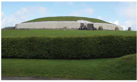 Newgrange is a 3000 BC religious site or tomb seen as one of the most important historic sites in the country.
