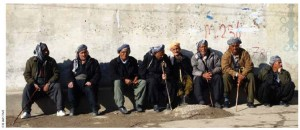 Kurdish elders gather in Northern Iraq.