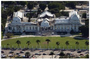 Haiti's presidential palace partly collapsed in the January 2010 earthquake.