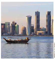 The skyline of Doha.