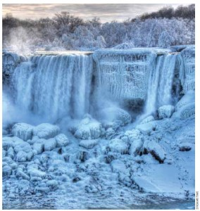 Niagara Falls in the winter.