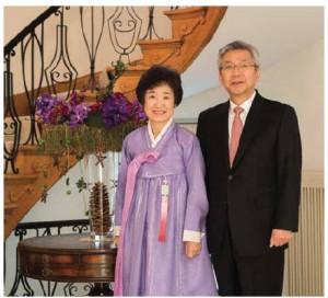 Korean Ambassador Cho Hee-yong and his wife ,Yang Lee.