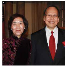 Chih-Kung Liu, head of mission for the Taipei Economic and Cultural Office, and his wife, Huey-Pyng Liu, hosted a reception at the Chateau Laurier to mark the 101st national day. (Photo: Ulle Baum)
