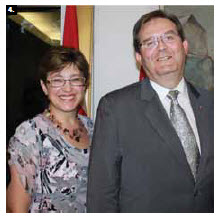 Slovakian Ambassador Milan Kollar and his wife, Sona, hosted a national day reception at the embassy. (Photo: Ulle Baum)