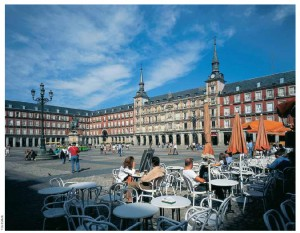 Plaza Mayor, in Madrid, dates back to the 17th Century.