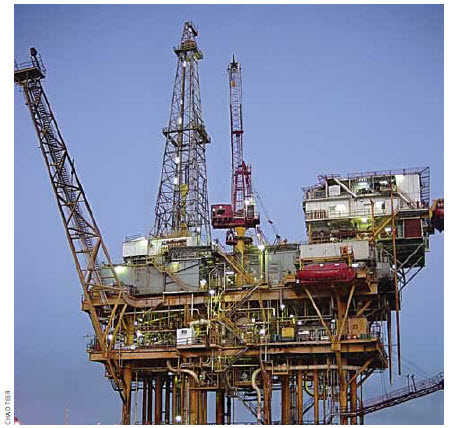 Oil and gas are big business in Mexico. This rig is in the Gulf of Mexico.