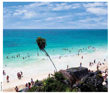 Tourism is one of Mexico's major industries.