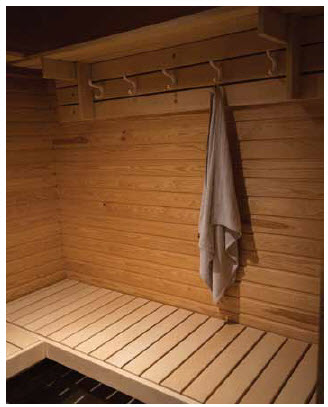 The residence has an essential Finnish fixture: A sauna in the basement.