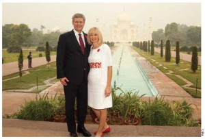 Prime Minister Stephen Harper and his wife, Laureen, visited India in November 2012. High Commissioner Verma was part of the hosting delegation for the visit.