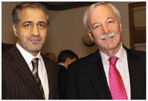 United Arab Emirates Ambassador Mohammed Saif Helal M. Alshehhi, shown with former chief of protocol Robert Collette, was one of the hosts at Dining with Ambassadors.