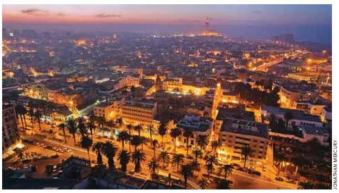Casablanca is one of the two most important industrial hubs in Morocco.