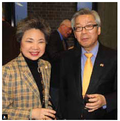 Korean Ambassador Cho Hee-yong spoke at Carleton University as part of the Ambassadors Speaker Series March 13. He's shown with Young-Hae Lee, president of the Canada Korea Society. (Photo: Frank Scheme)