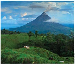 This active volcano at Arenal Volcano National Park is one of the most visited volcanoes in Costa Rica.