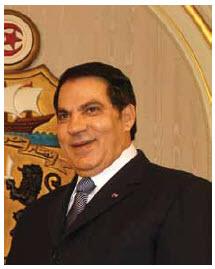 Zine El Abidine Ben Ali: ousted president of Tunisia