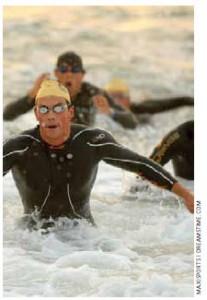 Swimmers finish the Barcelona Garmin Triathlon. Spain ranks eighth in the OECD's Better Life Index.