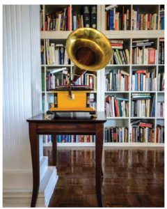 The ambassador's 100-year-old gramophone from his posting in Ireland.