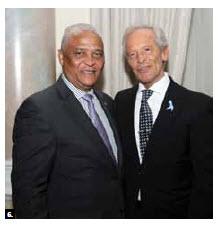 Argentine chargé d'affaires José Ureta hosted a national day reception at the Château Laurier. He's shown with Angolan Ambassador Agostinho Tavares da Silva Neto. (Photo: Sam Garcia)