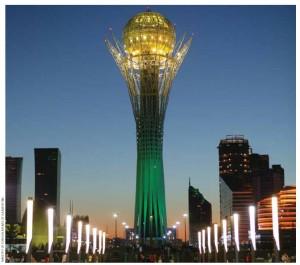 Baiterek Tower in Kazakhstan's capital, Astana.