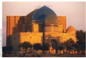 The Mausoleum of Khoja Ahmed Yasawi, built in the 14th Century.