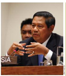 Indonesian President Susilo Bambang  Yudhoyono.