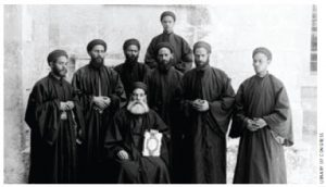Egyptian Copts, those who've followed these monks, photographed at the beginning of the 20th Century, are on Andrew Bennett's radar.