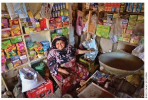 Kausar Parveen was a participant in CARE Canada's community infrastructure improvement project and bought a small grocery store with her earnings.