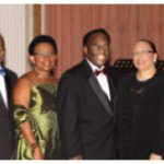From left, Vivian Monteith with his wife, Jamaican High Commissioner Sheila Sealy Monteith; Barbados High Commissioner Edward Evelyn Greaves with his wife, Francilia Greaves; Bahamas High Commissioner Calsey W. Johnson with his wife, Dulcena; Florence Liautaud with her husband, Haitian Ambassador Frantz Liautaud.