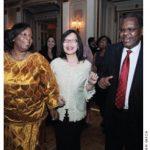 Dancing diplomats: From left, Zimbabwean Ambassador Florence Chideya gets down with Indonesian Ambassador Dienne Moehario and Tanzanian High Commissioner Alex Massinda.