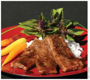 Margaret Dickenson's Mongolian beef strips