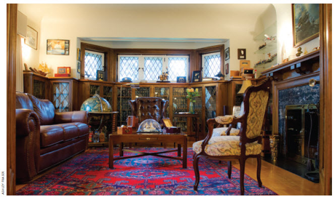 Mr. Bellina's study, where he's been known to have a cigar or two.