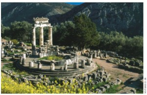The archeological site of Delphi, the site of the Delphic Oracle, is the most important oracle in the classical Greek world.