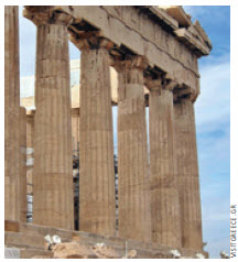The Parthenon, the most magnificent creation of Athenian democracy, is the finest monument on the Acropolis.
