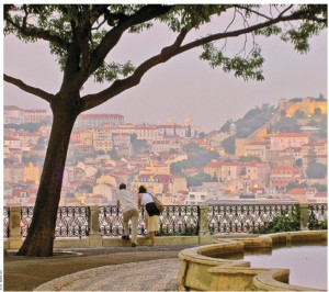 The district of Bairro Alto is in the heart of Lisbon, Portugal's capital city.