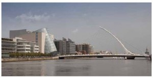 Dublin, with views of the Samuel Beckett Bridge and the Convention Centre, is Ireland's capital.