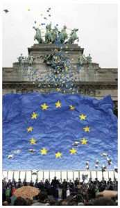 Enlargement celebrations take place in 2004 in Brussels. Poland hasn't looked back after its accession.