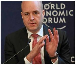 Swedish Prime Minister John Fredrik Reinfeldt