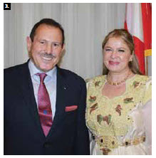 Algerian Ambassador Smail Benamara and his wife, Hasna, hosted a national day reception at the Château Laurier. (Photo: Ulle Baum)