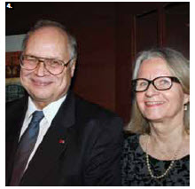 To celebrate the independence of Finland, Ambassador Charles Murto and his wife, Ritva, hosted a reception at their residence. (Photo: Ulle Baum)