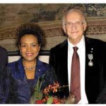 French Ambassador Philippe Zeller, far left, awarded l'Ordre des Arts et des Lettres to Jean Daniel Lafond, second from right. Also shown are former governor general Michaëlle Jean and Governor General David Johnston. (Photo: Lois Siegel)