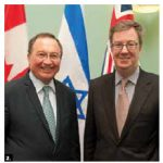 Israeli Ambassador Rafael Raul Barak paid a courtesy call on Mayor Jim Watson. (Photo: City Hall)