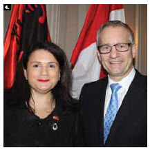 Albanian Ambassador Elida Petoshati and Trade Minister Ed Fast after signing a trade agreement at the Chateau Laurier. (Photo: Ulle Baum)