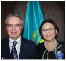 To mark Kazakhstan's national day, Ambassador Konstantin Zhigalov and his wife Indira Zhigalova hosted a reception at the Chateau Laurier. (Photo: Ulle Baum)