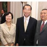 The Embassy of Mongolia hosted a farewell reception for Ambassador Zalaa-Uul Tundevdorj at the Château Laurier. From left, Dashaa Lkhundev, Keiko Okuda, Japanese Ambassador Norihiro Okuda and Mr. Tundevdorj. (Photo: Sam Garcia) Note: In the January issue, we mistakenly credited a photo of a Taiwan event to Ulle Baum. It was Sam Garcia's. We also credited an image of a Saudi Arabian event to Sam Garcia. It was Ulle Baum's. We apologize for the errors.