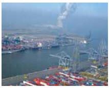 The port of Antwerp in Belgium