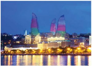 The five-star Fairmont Baku, part of the Flame Towers complex that dominates Baku's skyline, is a spectacular example of Canada's iconic Fairmont hotel chain.