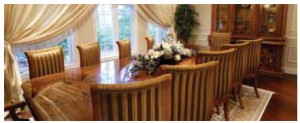 The family dining room seats 10 comfortably.