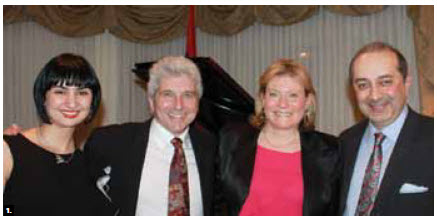 Armenian Ambassador Armen Yeganian, far right, and his wife, Maria, hosted an evening with Toronto Symphony Maestro Peter Oundjian  at the embassy. From left: Maria Yeganian, Oundjian and his wife, Nadine, and Mr. Yeganian. (Photo: Ulle Baum)
