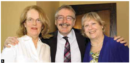 Irish Ambassador Ray Bassett and his wife, Patricia, (left and centre) hosted a fundraiser for Thinking in Pictures Educational Services (TIPES), a non-profit educational and therapeutic service that provides support to children, teens and young adults. They are shown with Joan Kellett, right. (Photo: Lois Siegel)