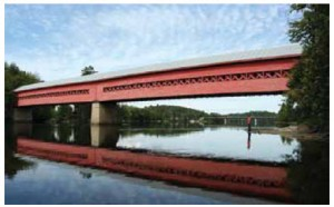 The bohemian town of Wakefield in Quebec boasts this charming covered bridge.